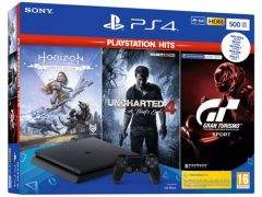 Playstation 4 500GB Black + Playstation Hits Bundle V2