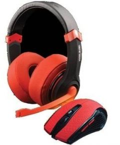 Dragon War 2 in 1 Combo Set (Gaming Headset + Mouse) Red Edition