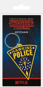 Stranger Things - Hawkins Police Rubber Keychain