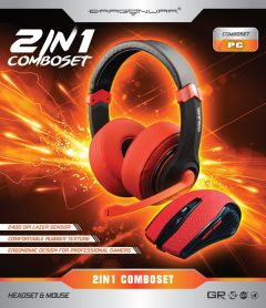 Dragon War 2 in 1 Combo Set Red Edition - Gaming Headset + Mouse_1