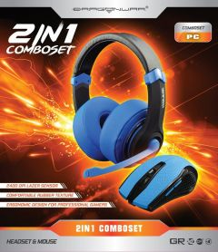 Dragon War 2 in 1 Combo Set Blue Edition - Gaming Headset + Mouse_1