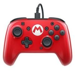 PDP Faceoff Deluxe Wired Pro Controller (Super Mario Edition) - Switch